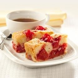 Sweet Vanilla Cherry Cake Recipe - This cherry cake can be served as a coffee cake, a snack cake, or a delicious dessert.