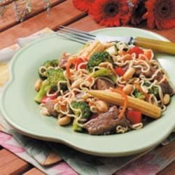 Beef with Ramen Noodles