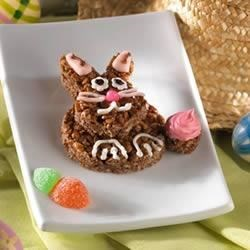 Chocolate Bunny Treats(TM) Recipe - Make these googly-eyed bunnies, complete with frosted cottontails, with your kids, or put the bunnies in their Easter baskets.