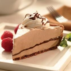 Mocha Mousse Pie Recipe - Chocolate with a kick, this creamy pie is perfect for mocha lovers.