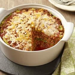 Lazy Cabbage Roll Casserole Recipe - All the flavors of your favorite cabbage rolls without having to make the rolls, this delicious casserole is ready to pop in the oven in 15 minutes.