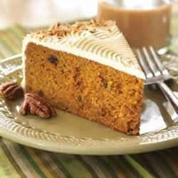 A Little Country Pumpkin Cake Recipe - Try this cake to celebrate the arrival of autumn. Its nicely spiced pumpkin flavor is absolute 'autumn on a plate!'