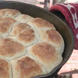 Johnny's Biscuits Recipe - Self-rising flour gives extra lift to these fluffy buttermilk biscuits.