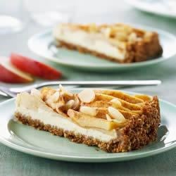 Shreddies Bavarian Apple Cream Cheese Tart Recipe - A classic dessert with a twist – a Shreddies crumb crust replaces the traditional pastry crust.