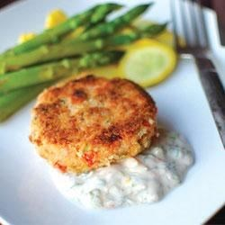 Salmon Cakes by Melt(R) Buttery Spread Recipe - Delicious salmon cakes seasoned with Old Bay are gently pan fried until golden brown.