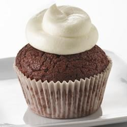 Red Velvet Cupcakes with Truvia(R) Baking Blend Recipe - These cupcakes are moist and yummy with a rich cocoa flavor. Made with Truvia(R) Baking Blend, this cupcake has 40% fewer calories and 65% less sugar* than a full sugar and fat version**.