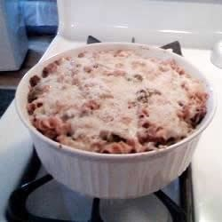 Cheesy Chili Casserole Recipe - This recipe, adapted to use the traditional flavors of Classico® Pasta Sauce, was originally submitted by Allrecipes home cook LaDonna Reed.