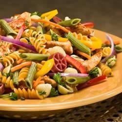 Wacky Pasta Salad Recipe - Perfect Pasta salad drizzled with Honey Mustard for added flavour.