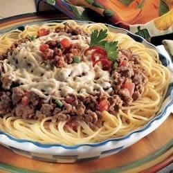 Beef Spaghetti Pie Ole