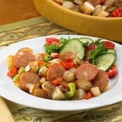 Johnsonville® Chipotle and Monterey Jack Cheese Chicken Sausage Potato Hash
