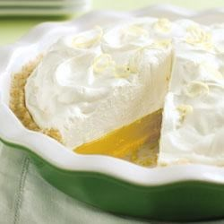 "Easy Lemon ""Meringue"" Pie Recipe - The best and easiest lemon meringue pie EVER! Just don't get antsy and add the topping to the pie until the filling is set or you'll have overflow issues."