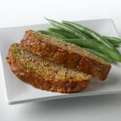 Meatloaf with Truvia(R) Natural Sweetener Recipe - Truvia(R) Natural Sweetener puts a new spin on meatloaf by pairing lemon and subtle sweetness with savory beef and green pepper under a flavorful sauce.  Truvia(R) natural sweetener reduces this recipe by 120 calories per serving, compared to the original sugar-sweetened version.