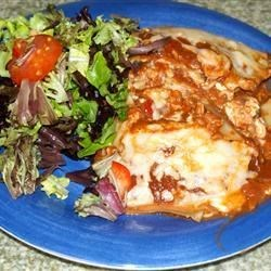 Hearty Vegetarian Lasagna Recipe - This recipe, adapted to use the traditional flavors of Classico® Pasta Sauce, was originally submitted by Allrecipes home cook Sue.