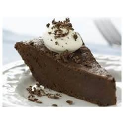Chocolate Truffle Pie Recipe - This dense chocolate treat is a chocoholics dream!