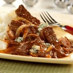 Steak with Tomato Gorgonzola Sauce