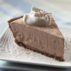Frozen Lite Chocolate Cheesecake Pie Recipe - When you have a hankering for a piece of sweet, creamy chocolate cheesecake pie, but you don't hanker for extra calories or fat, try this lightened-up version.