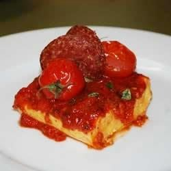 Quick and Easy Polenta with Tomato Sauce Recipe - This recipe, adapted to use the traditional flavors of Classico® Pasta Sauce, was originally submitted by Allrecipes home cook Jacquita.