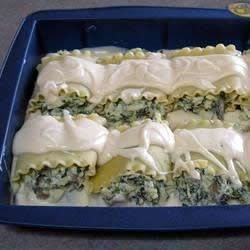 Alfredo-Stuffed Lasagna Noodles Recipe - This recipe, adapted to use the traditional flavors of Classico® Pasta Sauce, was originally submitted by Allrecipes home cook MARBALET.