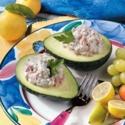 Tuna-Stuffed Avocados