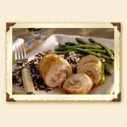 Chicken Cordon Bleu Recipe - Sargento's Reduced Fat Swiss cheese and Shredded Parmesan combo make this baked classic ooze with cheesy goodness.
