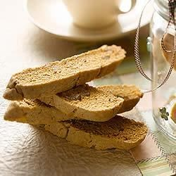 KELLOGG'S* RICE KRISPIES* Crystallized Ginger Biscotti Recipe - Perfect with your favourite tea, ginger biscotti are sure to keep your family warm and cozy.