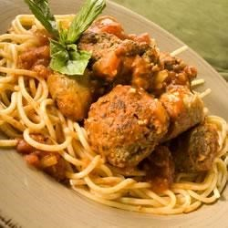 Pam's Red Sauce with Meatballs and Sausage