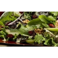 Baby Lettuces with Green Apple, Walnuts, and Dried Cranberries
