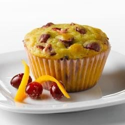Cranberry Orange Muffins with Truvia(R) Baking Blend Recipe - These tart, fresh-tasting muffins are a bright addition to the breakfast or brunch table. Made with Truvia(R) Baking Blend, these muffins have 70% less sugar* than the full sugar version.