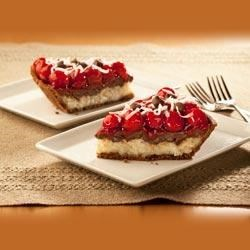 Cherry-Chocolate Macaroon Pie