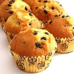 Chocolate Chip Banana Muffins Recipe - Classic moist banana muffins are extra special with the addition of chocolate chips.