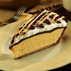Decadent Peanut Butter Pie Recipe - The famously irresistible duo -- peanut butter and chocolate -- come together in this rich and creamy pie.
