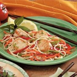 Scallops with Spaghetti