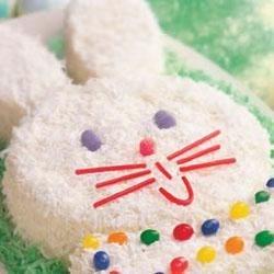 Easter Bunny Cake Recipe - This adorable Easter Bunny cake is cake-mix easy and so much fun, the kids will definitely want to join in.