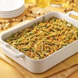 Creamy Garlic-Green Bean Casserole