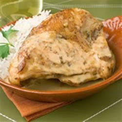 Portuguese Chicken I Recipe - Creamy rich chicken in white wine sauce. Serve over rice.