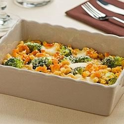 Pasta Bake with Broccoli and Cheese Recipe - This cheesy, comforting pasta bake is made healthier with broccoli florets and PLUS pasta, giving you additional protein, Fiber and ALA-Omega 3.