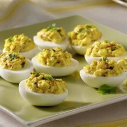 Red-Chile-Spiked Deviled Eggs