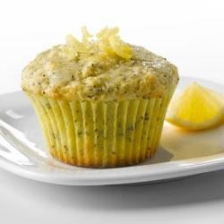 Lemon Poppy Seed Muffins with Truvia(R) Baking Blend Recipe - These muffins combine the tart bite of fresh lemons with the crunch of poppy seeds. Made with Truvia(R) Baking Blend, this muffin contains 35% fewer calories and has 75% less sugar* than the full sugar version.