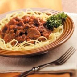 Three-Meat Spaghetti Sauce