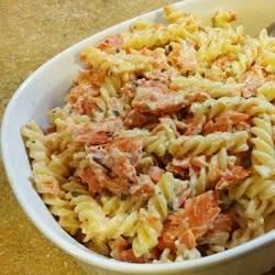 Cheesy Salmon Pasta Alfredo
