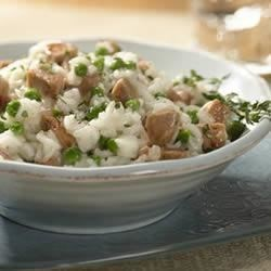 Italian Chicken Sausage Risotto  Recipe - Sweet Italian chicken sausage, sweet onions, garlic and thyme are sauteed together as the savory base for this creamy risotto dish.