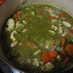 Chicken Chili with Pesto