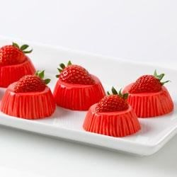 Strawberry Yogurt Bites Recipe - Creamy strawberry bites topped with strawberry halves are an easy, elegant dessert.