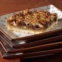 Lite Chocolate Pecan Pie Bars