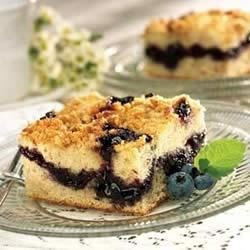 Blueberry Coffee Cake Recipe - Here's a fresh-baked idea for breakfast, brunch or even a card party.