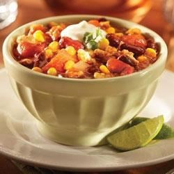 Southwestern Turkey Chili from Del Monte Recipe - When you have a craving for a hot bowl of chili but don't have lots of time, this recipe is hearty, delicious and fast.