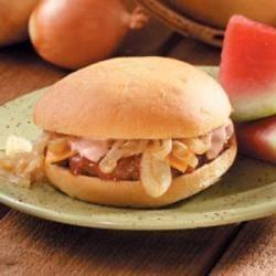 Sweet Onion BBQ Burgers