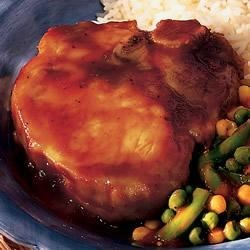 Barbecue Pork Chops Medley