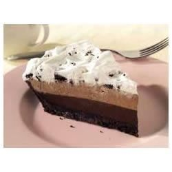 OREO(R) Triple Layer Chocolate Pie Recipe - A cookie crust holds three chocolatey layers for a creamy no-bake pie.