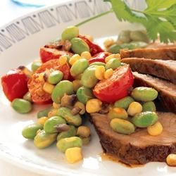 Southwestern Pork Tenderloin with Soy Succotash